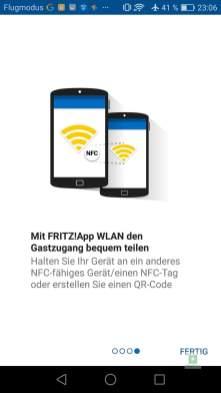 WLAN per NFC freigeben