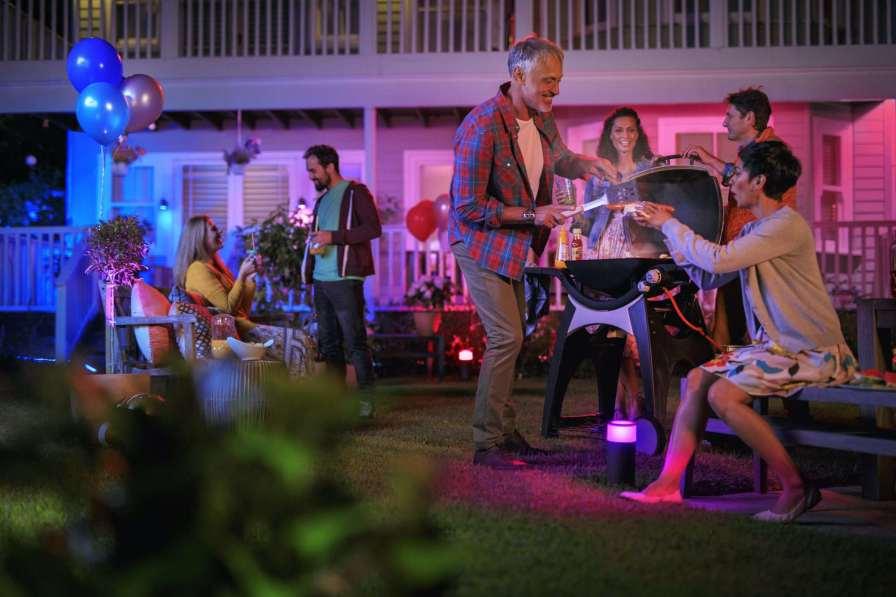 Party mit Hue Licht