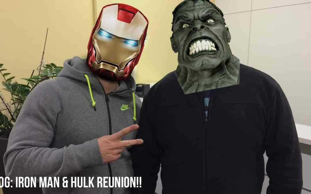 VLOG: Iron Man & Hulk Reunion!!