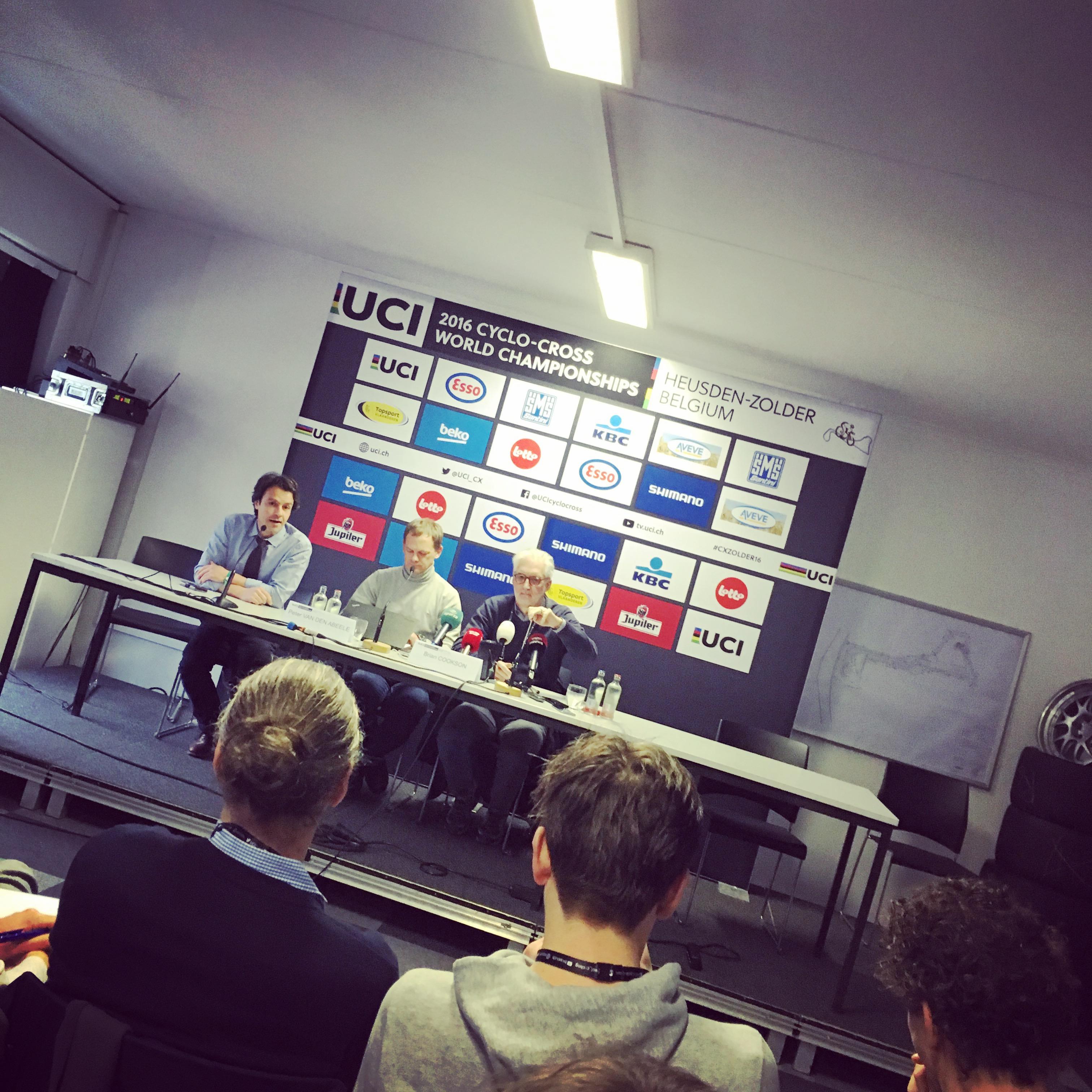 UCI sajtótájékoztató