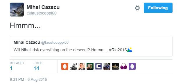 A riói mezőnyversenyen úgy tűnhetett, lejtmenetben Nibali eldönti...hát eldöntötte