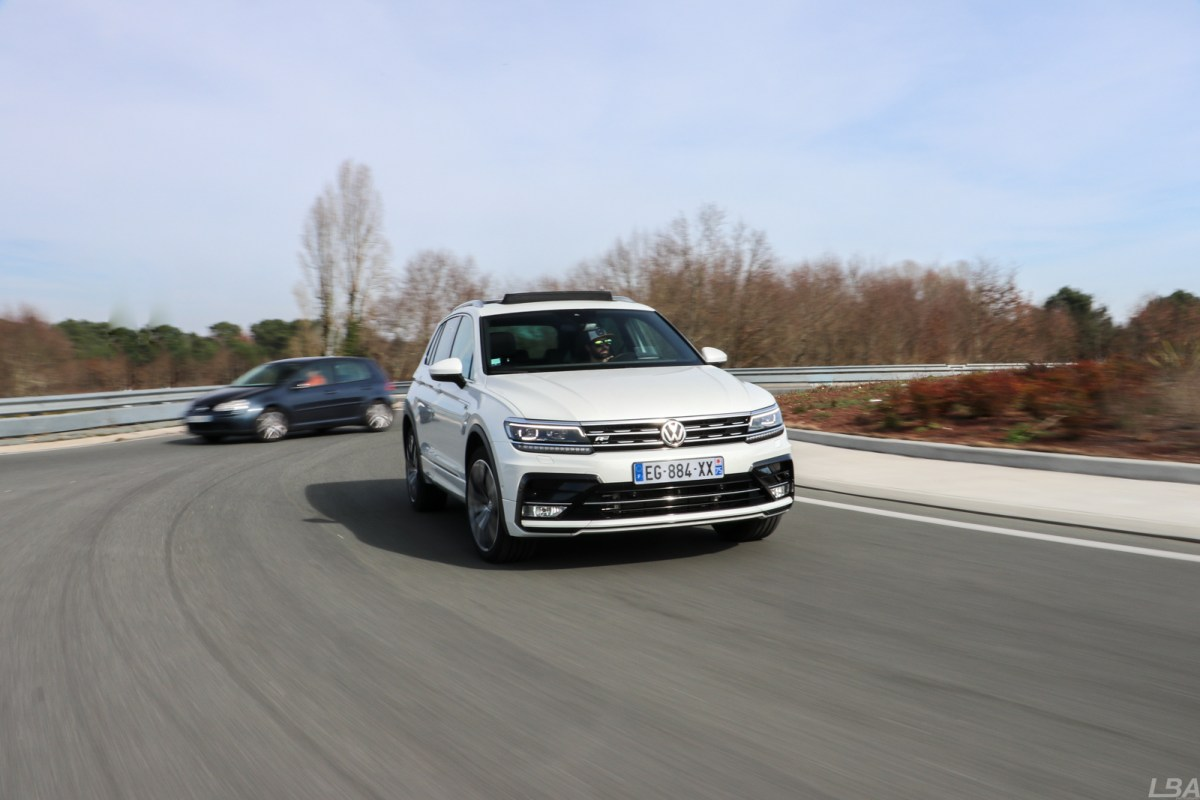 VW Tiguan RLine on the road