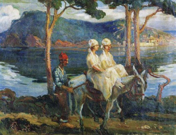 ibrahim çallı adada gezintiye çıkan kadınlar tablosu