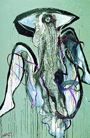 Wolf Vostell, Weinende 3, 1992