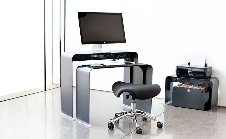 Bureau Pour Ordinateur Peu Profond En Mtal OneLessOffice