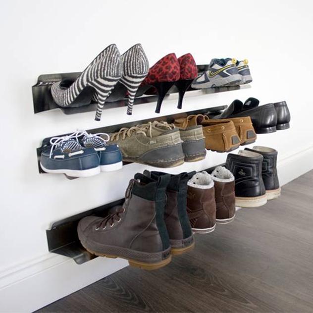 Rail Range Chaussures Mural