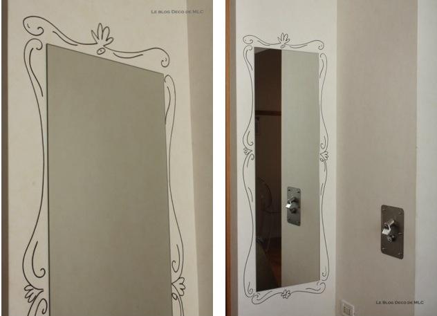 DIY-miroir-encadrement-dessiné