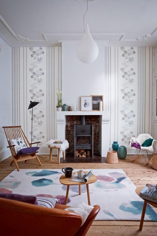 Intérieur-scandinave-par-Esprit-salon fleurs