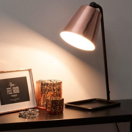 luminaire cuivre nouveauté lampe Maison du monde