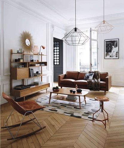 luminaire cuivre nouveauté suspension géométrique maison du monde