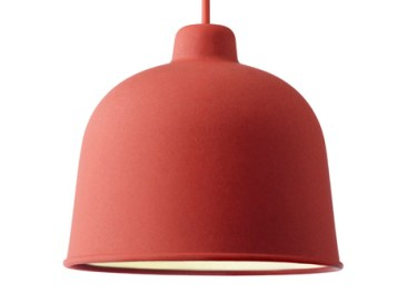 luminaire suspension bambou rouge Muuto