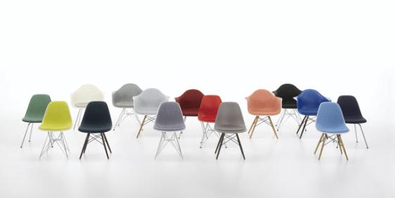 chaise Eames  nouveaux coloris vitra