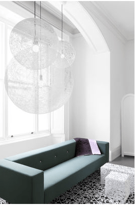suspension boule blanche moooi 3 format