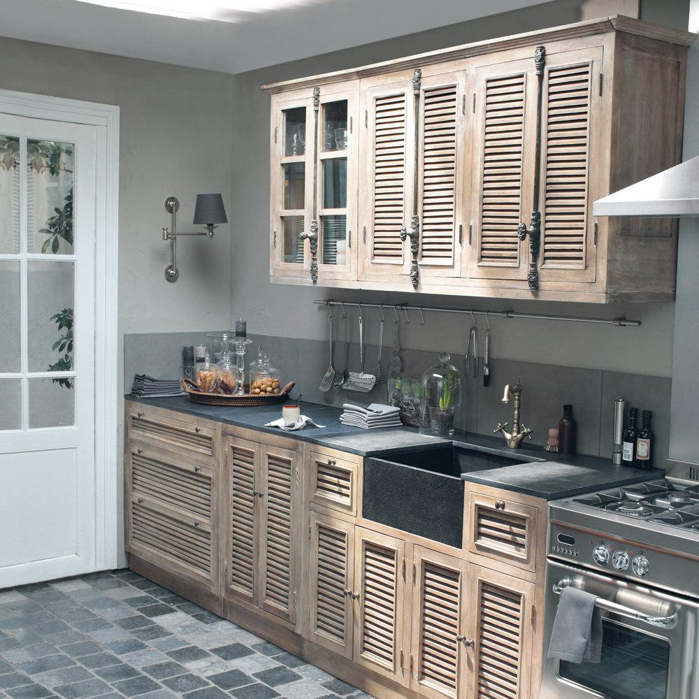 meubles de cuisine ind pendant et ilot maison du monde. Black Bedroom Furniture Sets. Home Design Ideas