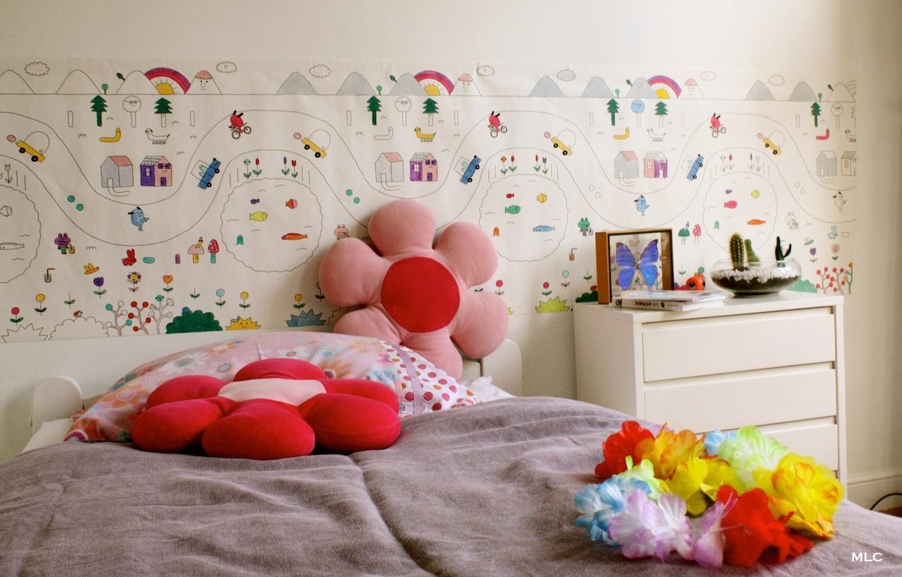 Coloriage enfant - papier peint pour chambre enfant déco