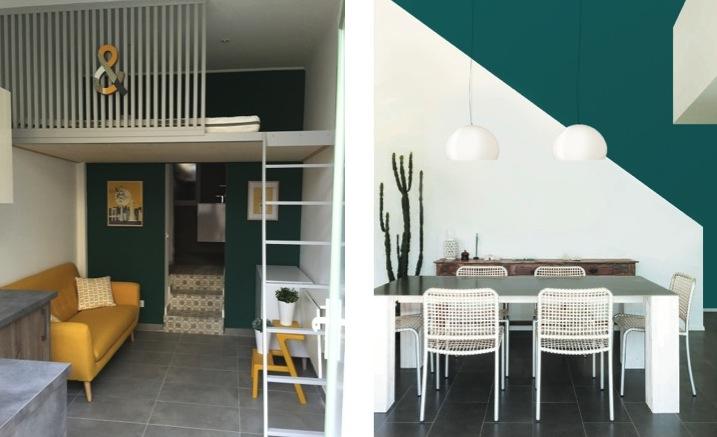 peindre-le-bon-mur-escalier-blanc-mur-emeraude-architecture