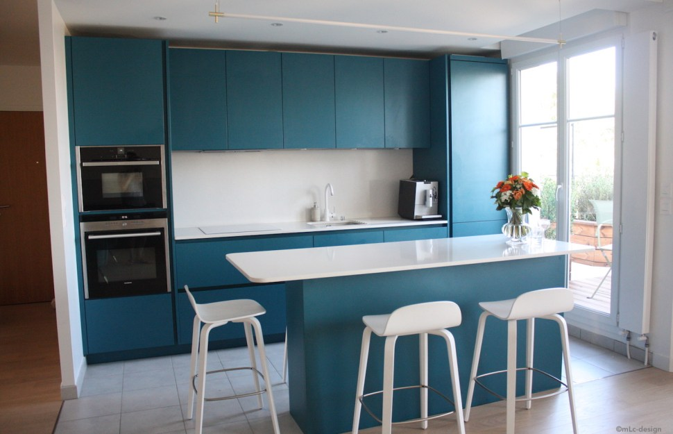 Ma Nouvelle Cuisine Bleue Le Blog Deco De Mlc