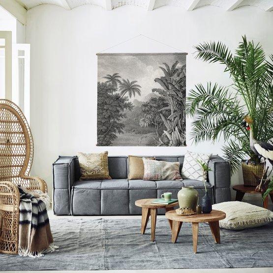La déco murale tropicale en noir et blanc - Le Blog déco de MLC