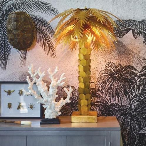 lampe palmier laiton Hk living