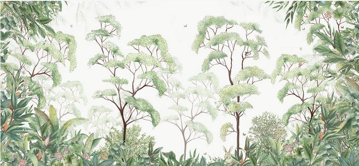 joli papier peint tropical déco