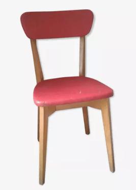 chaise en bois bicolore