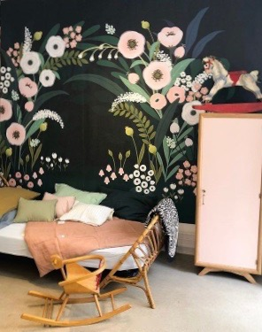 arche fleuri papier peint chambre fille lilipinso