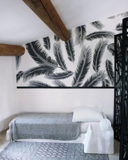 peinture-et-papier-peint-chambre-motif-en-noir-et-blanc