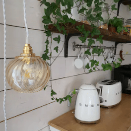 lampe-vintage-en suspension-cuisine
