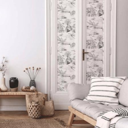 poser-papier-peint-panoramique-noir-et-blanc-mur-porte