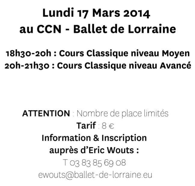Le Blog du Ballet De Lorraine » Deux grandes leçons avec