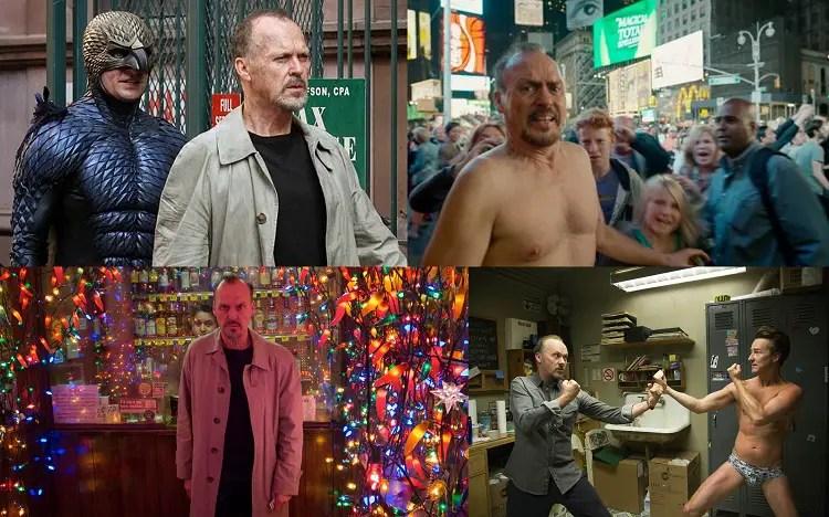 Michael Keaton en pleine performance et Ed Norton en slip.