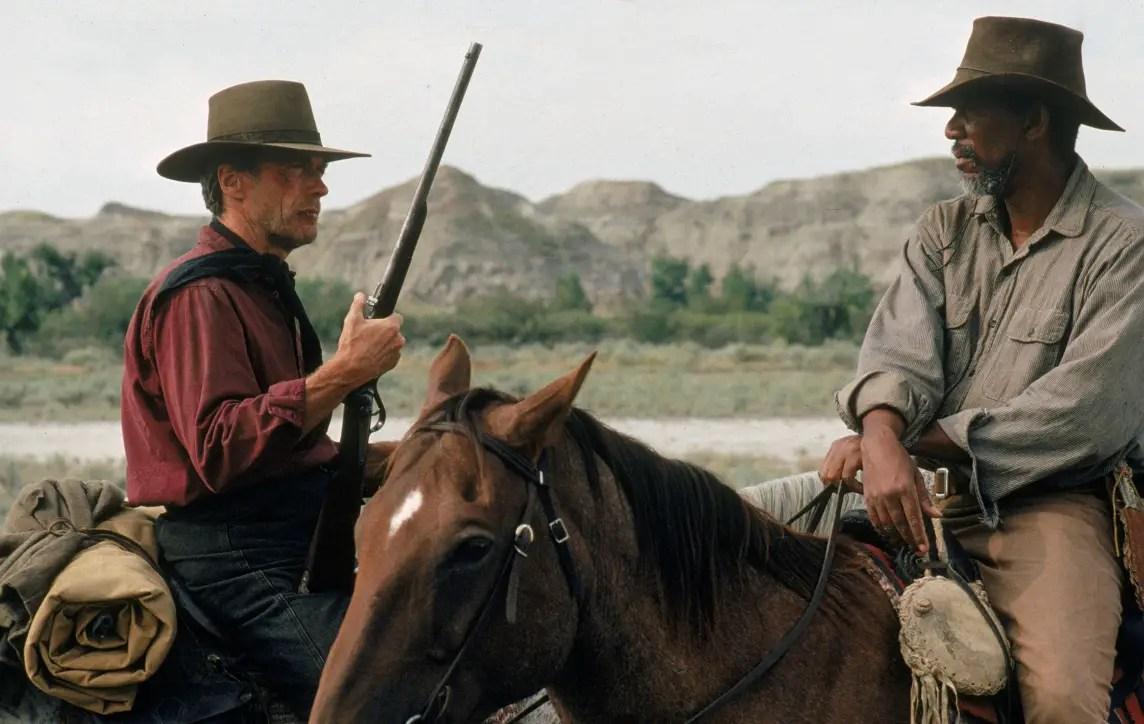 Clint Eastwood et Morgan Freeman (Impitoyable, 1992)