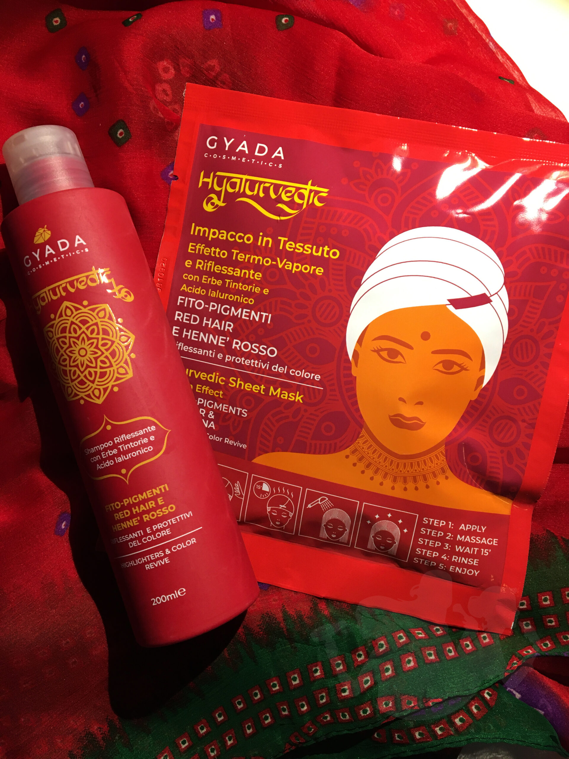 Hyalurvedic Shampoo Riflessante e Maschera Termoattiva Red hair - Gyada Cosmetics