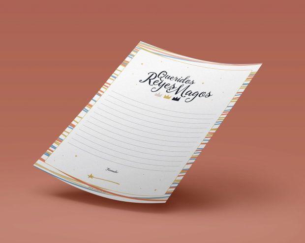 Carta Reyes Magos mockup
