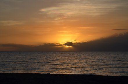 Coucher de soleil à Nadi