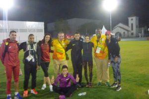 Avec des coureurs marocains