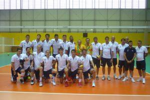 Avec la team France volley