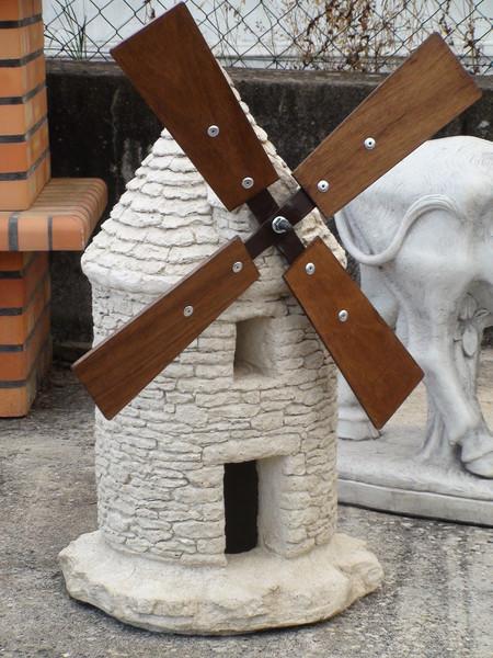 DECORATION DE JARDIN GRAND MOULIN EN PIERRE Le Bon Vivre