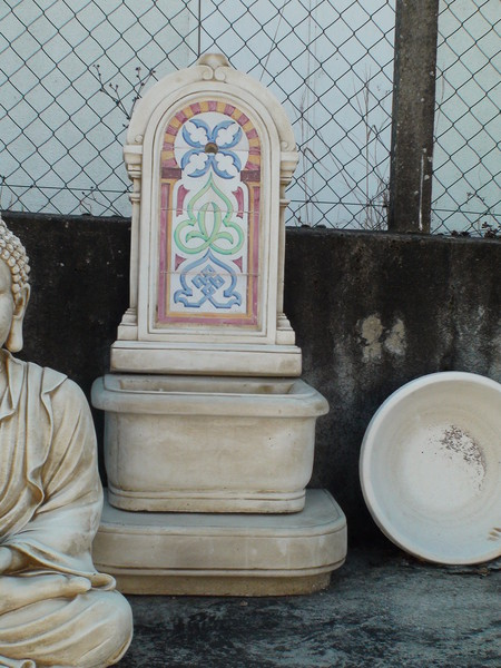 fontaine murale rustique decor avec