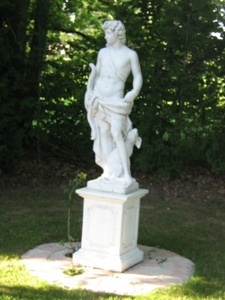Statue de jardin en pierre Dieu Apollon  Le bon vivre
