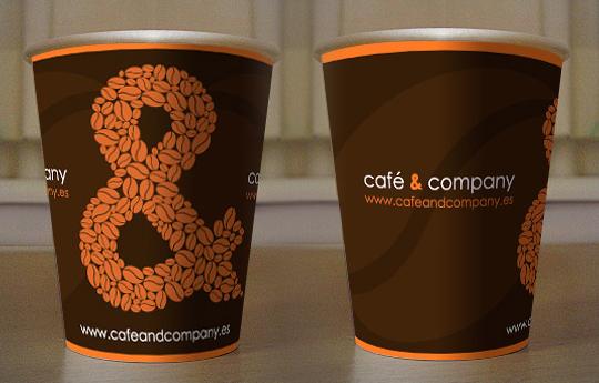 Vasos de la empresa café&company