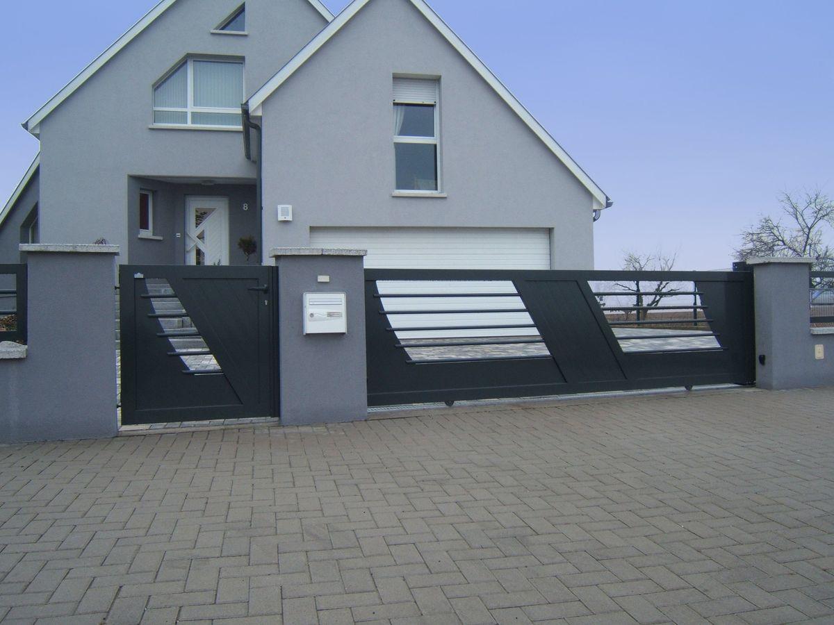 Quel portail choisir pour votre maison le bricomag - Portillon de jardinidees pour votre exterieur ...