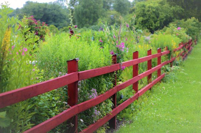 belle clôture pour son jardin