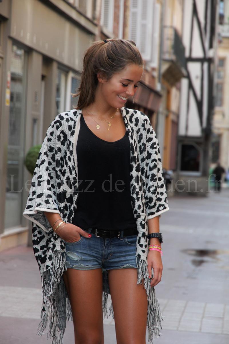 Gilet leopard femme