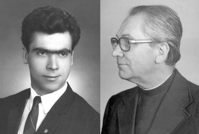 Luis Barra e Padre Alcino - Fundadores da AALP