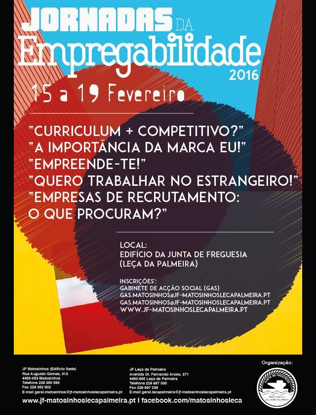 Cartaz Jornadas da Empregabilidade