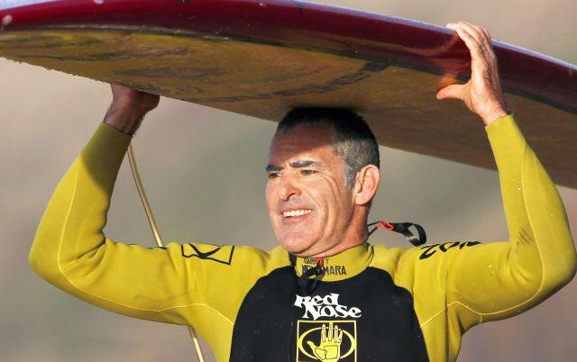 Garrett McNamara dá aulas de surf em Matosinhos