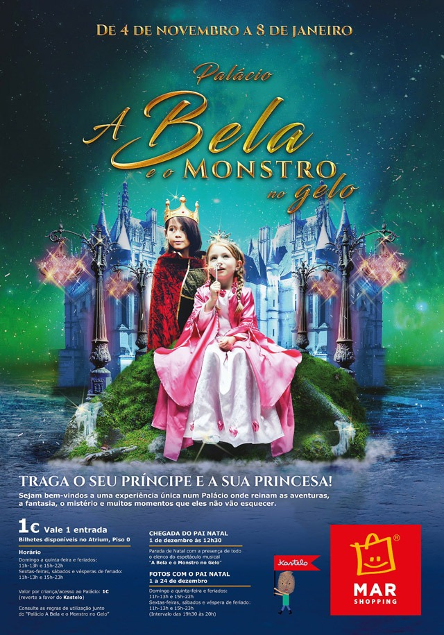 "Cartaz ""A Bela e o Monstro no gelo"""