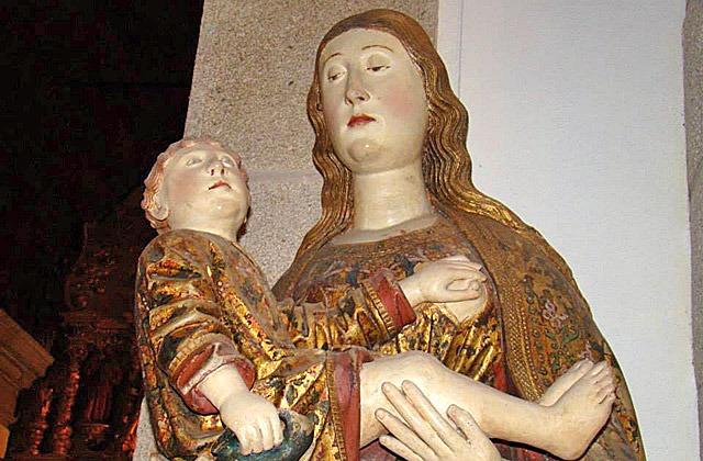 A imagem de Nossa Senhora da Conceição - Leça da palmeira