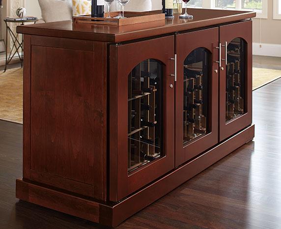 Wine Credenza Cabinets Le Cache Premium Wine Cabinets
